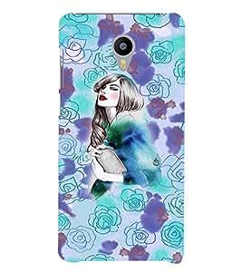 PrintVisa Stylish Cool Girl Print & Patterns 3D Hard Polycarbonate Designer Back Case Cover for Meizu M3 Note