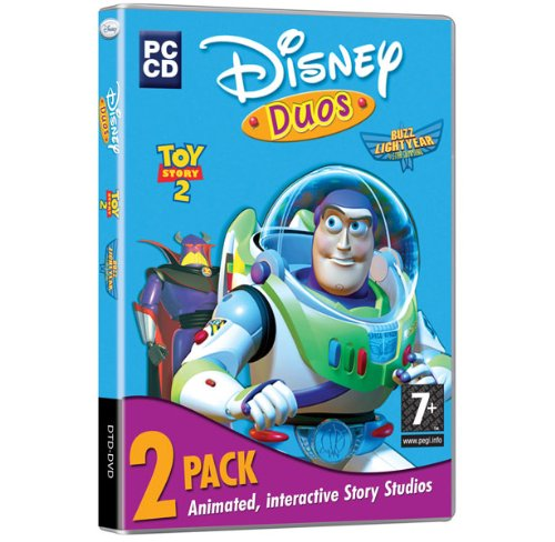 Disney Duos Toy Story 2, 2 Pack, Action Games and Activity Center) PC-CD) Including Cone Chaos, Toy Shelf Showdown & The Toys are back in town