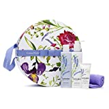 Crabtree & Evelyn Lavender Hatbox Gift (bath & shower gel 8.5oz, body lotion 8.3oz, body cream 1oz & exfoliating gloves)