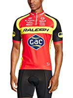 MOA FOR PROFI TEAMS Maillot Ciclismo Raleigh (Rojo / Negro / Amarillo)