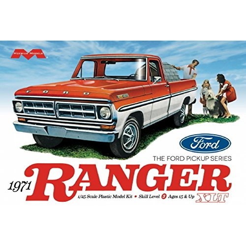 Moebius model 1:25 Scale 1971 Ford Ranger Pickup Truck Model Kit Vehicle (Ford Model Car Kits compare prices)