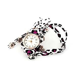 Acsentials Purple Leopard Wrap Watch