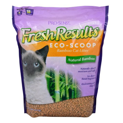 Pro-Sense Fresh Results Eco-Scoop Bamboo Cat Litter, 8-Pound