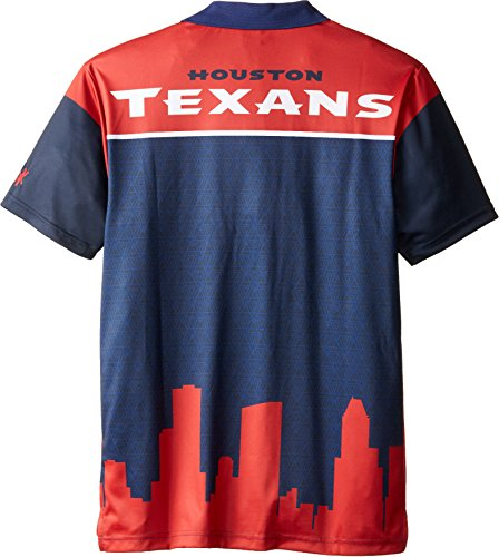 Klew nfl houston texans polyester short sleeve thematic for Houston texans polo shirt