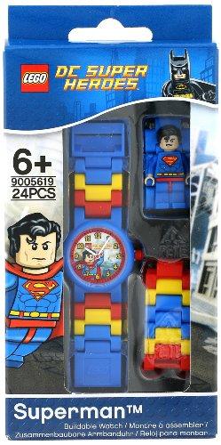 LEGO Kids' DC Universe Super Heroes Superman Plastic Watch with Link Bracelet and Character Figurine JungleDealsBlog.com