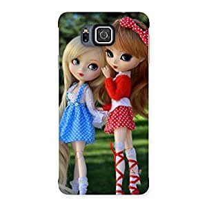 Sister Doll Multicolor Back Case Cover for Galaxy Alpha