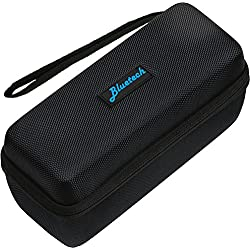 Hard Travel Case For Bose Mini II & Bose Soundlink Mini Bluetooth Portable Speaker - Carry Case for Speaker, Wall Charger, Charging Cradle & Silicone Cover, Black, By Bluetech