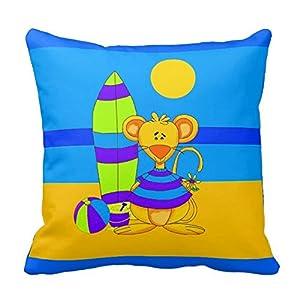 Fun Throw Pillows For Bed : Amazon.com - Pillows Fun Cute Kids Mouse Beach Pillows 18 X 18 Two Sides Bedding Home Decoration ...