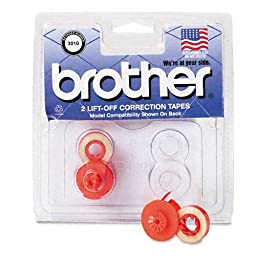 Brother : Lift-Off Correction Typewriter Tape, 1500 Yield, Two per Pack -:- Sold as 2 Packs of - 2 - / - Total of 4 Each