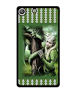 Fuson 2D Printed Girly Designer back case cover for Sony Xperia M5 - D4142