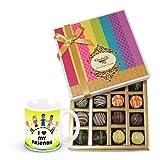 Valentine Chocholik Belgium Chocolates - Dessert Truffles Gift Box With Friendship Mug