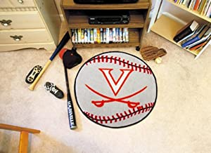 Fanmats Virginia Cavaliers Baseball-Shaped Mat by Fanmats