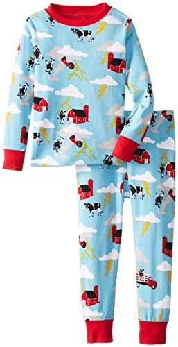 Hatley Little Boys' Pajama Set Storm, Blue, 7 front-545845