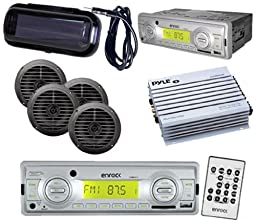 EKMRS12 InDash Marine Boat MP3 USB SD Media Media 4 5.25\