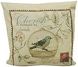 Decorative Pillows Newport Layton Home Fashions : Amazon.com - Newport Layton Home Fashions Blue Bird Knife Edge Pillow with Zipper Closure and ...