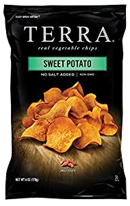Terra Plain Sweet Potato Chips, 6 Ounce Bags (Pack of 12)