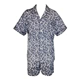 Majestic International Mens Cotton Paisley Print Short Pajama Set