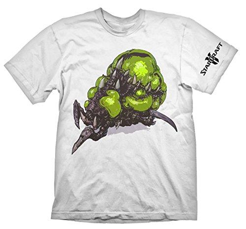StarCraft 2 - T-Shirt Baneling tratta dal gioco - Maglietta in cotone - Bianco - M