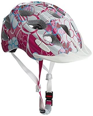 Alpina Girl's Rocky Cycling Helmet - Pink/Light Blue/Flowers, 47 - 52 cm by Alpina