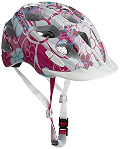 ALPINA Kinder Radhelm Rocky, Pink-Lightblue Flowers, 52-57, A9629.1.58