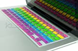Kuzy - Rainbow Keyboard Silicone Cover Skin for MacBook Pro 13&quot; 15&quot; 17&quot; Aluminum Unibody (fits MacBook with or w/out Retina Display), iMac and MacBook Air 13&quot; - Rainbow