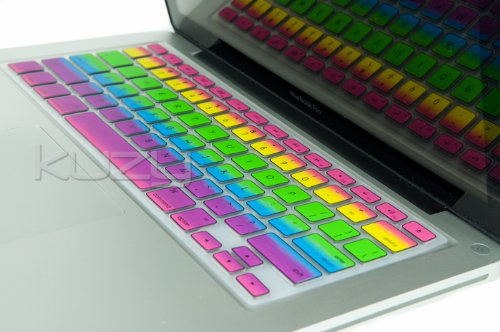 Kuzy - Rainbow Keyboard Silicone Cover Skin for
