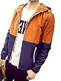(ボルソ) Bolso メンズ 軽量 カジュアル ウィンドブレーカー ジャケット (オレンジS)