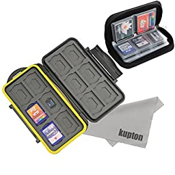 Kupton Hard Memory Card Carrying Case with Pouch