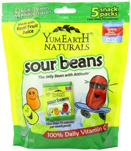 Yummy Earth Natural Sour Jelly Beans Snack 5 Count (Pack Of 12) (Yucky Jelly Beans compare prices)
