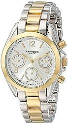Akribos XXIV Women's AK809TTG Two-Tone Watch