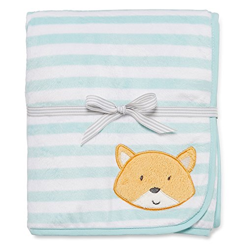 Carters Fox Appliqué Velboa Blanket - 1