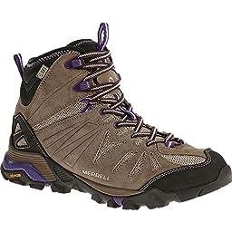 Merrell Women\'s Capra Mid Waterproof Hiking Boot, Taupe, 5.5 M US