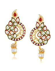 Sukkhi Alluring Gold Plated Australian Diamond Earrings