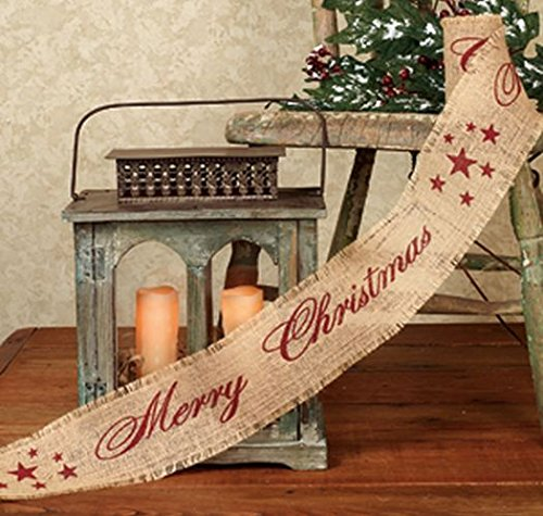 Vintage Merry Christmas Burlap