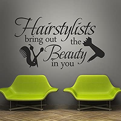 Vinyl Wall Lettering Words Wall Quotes Salon Wall Decal Hair Salon Wall Sticker Wall Mural Wall Graphic Beauty Salon Shop Decor Hairstylists Bring Out The Beauty In You