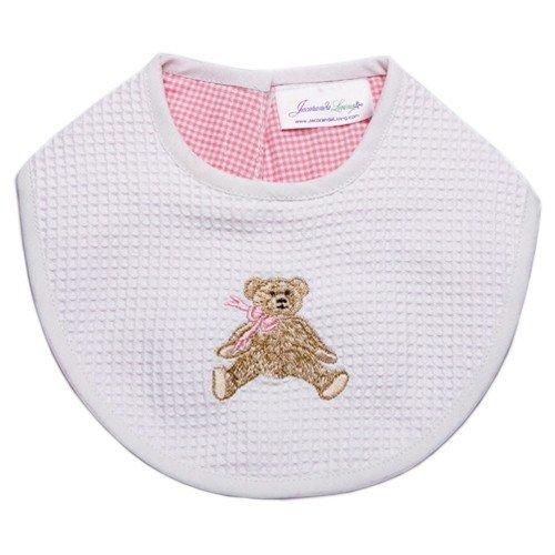 Jacaranda Living Baby Bib, Pink Bow Teddy