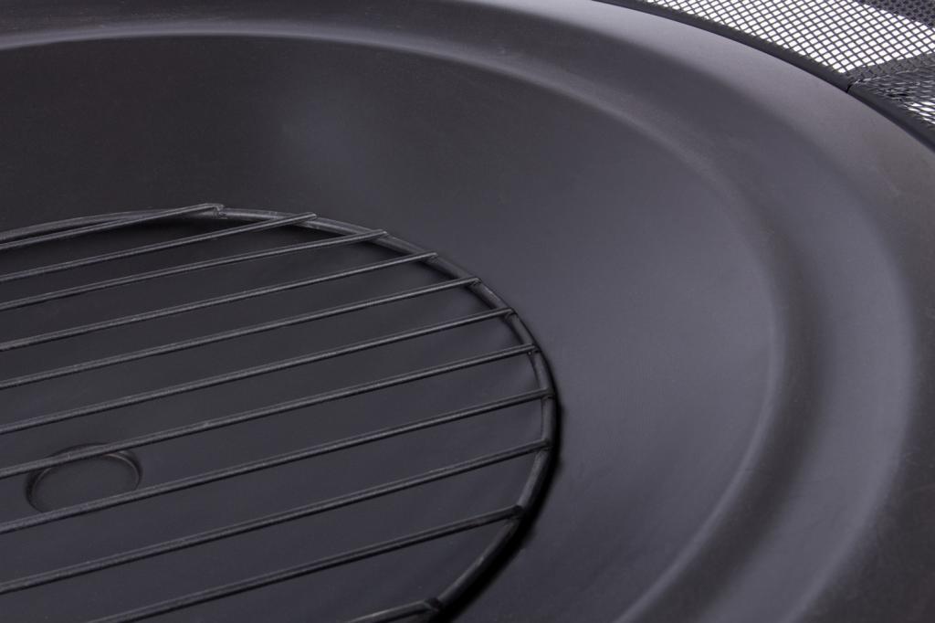 rustler lp 0227a feuerschale terrassenofen aus stahl mit abdeckung funkenflug und sch rhaken. Black Bedroom Furniture Sets. Home Design Ideas