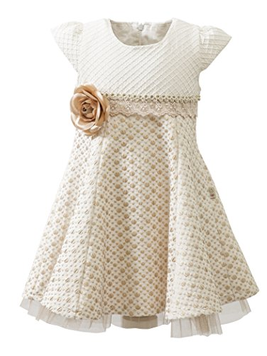 Lilax Little Girls' Sparkle Polka Dot Twirl Dress 3T