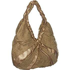 Burlap Hobo Melie Bianco Handbags - Bronze or Orange