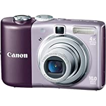 Canon Powershot A1000IS 10MP Digital Camera with 4x Optical Image Stabilized Zoom (Purple)