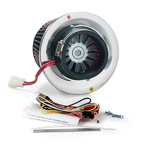 Electric Turbo Supercharger Kit Air Filter Intake for All Car (Iron Fan) (Supercharger Electric Intake compare prices)