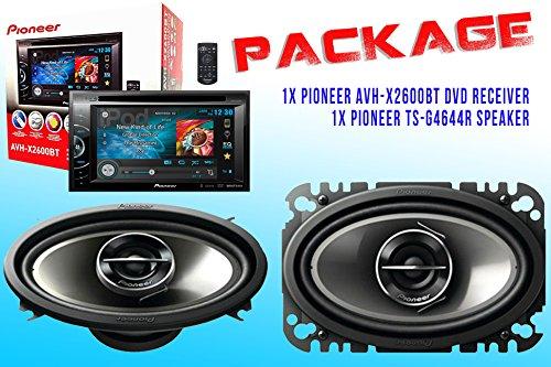Package ! Pioneer Avh-X2600Bt Dvd Receiver + Pioneer Ts-G4644R Car Speakers