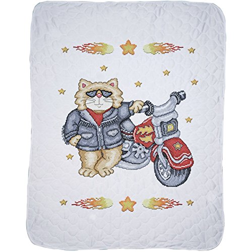 Tobin Born to be Wild Baby Quilt Stamped Cross Stitch Kit, 34 by 43-Inch (Baby Quilts Stamped Cross Stitch compare prices)