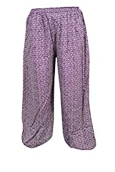 Indiatrendzs Women Pajama Printed Rayon Pink Evening Wear Yoga Pants