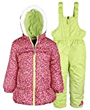 Pink Platinum Baby Girls Down Alternative Snowboard Puffer Coat and Snowpants - Pink (24 Months)
