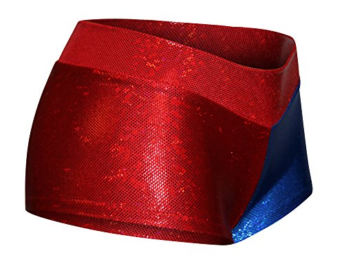 MID-RISE-CHEEKY-Holographic-Red-and-Blue-Cosplay-Booty-Shorts