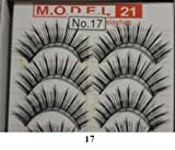 Model 21 False Eyelashes No. 17, 10 Pairs