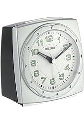 Seiko Silver Square Alarm Clock