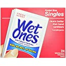 Wet Ones Antibacterial Hand Wipes Singles, , Fresh Scent, 24-Count (Pack of 5)