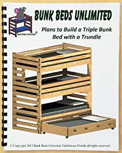 triple bunk plan not a bed to build your own extra tall with trundle bed and hardware kit for. Black Bedroom Furniture Sets. Home Design Ideas